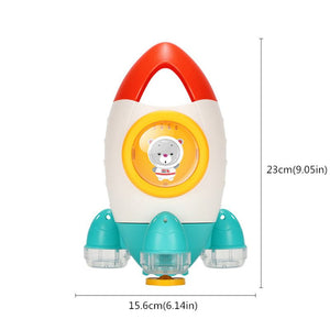 Rocket Bath Toy Rotating Water Spray