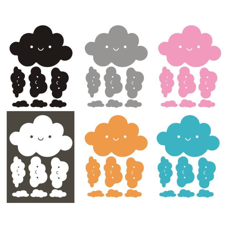 Smiley Clouds Stickers