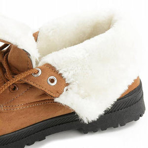 Snow boots classic heels suede women winter boots warm fur plush Insole