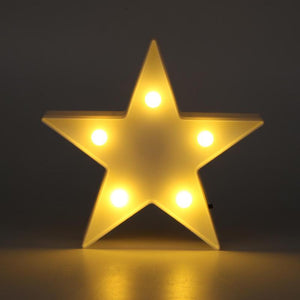 Star Shaped LED Night Light Table Lamp