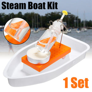 Steam Boat DIY Physics Science Assembly  Model Toy