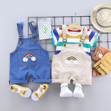 Load image into Gallery viewer, Rainbow Striped Baby Boys Casual Fashion