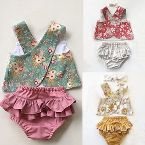 Cute Infant Baby Girl Summer Outfit