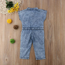 Load image into Gallery viewer, Summer Canis Denim Short Sleeve Jumpsuits