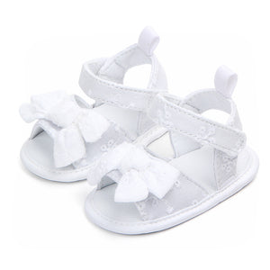 Cute Lace Floral Bows Toddler Girls Shoes