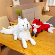 Load image into Gallery viewer, Cute White Red Nine Tails Fox Soft Plush Toy