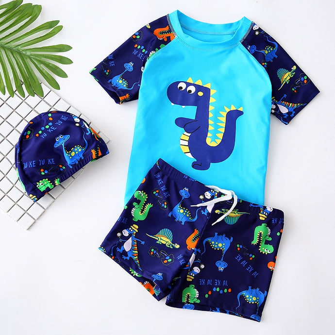 Swimming Suit 3 Pieces Boys UV Protection Outfit Set