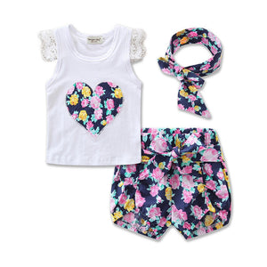 Sweet Floral Shorts Outfit Set For Summer