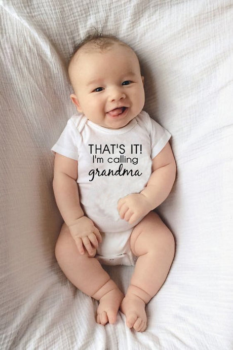 That's It I'm Calling Grandma Newborn Baby Clothes Cotton Romper