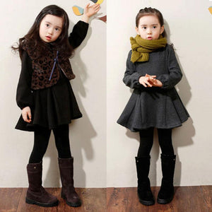 Chic Casual Warm Girls Dresses