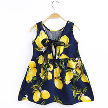 Load image into Gallery viewer, Baby Girl Sleeveless Lemon Fruit Dress