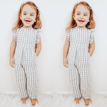 Load image into Gallery viewer, Casual Fashion Plaid Baby Girl Jumpsuit