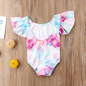 Toddler Baby Girl Mermaid Romper Swimsuit