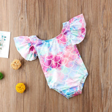 Load image into Gallery viewer, Toddler Baby Girl Mermaid Romper Swimsuit