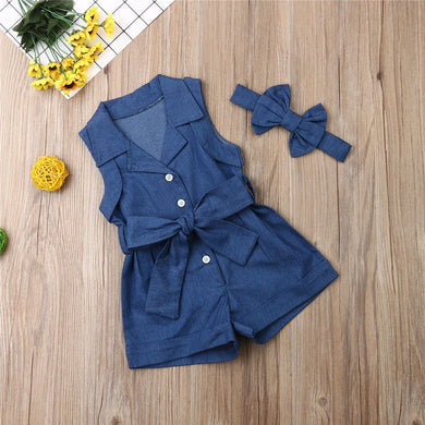 New Fashion Girl Denim With Headband
