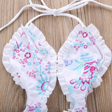 Load image into Gallery viewer, Toddler Kids Girl Floral Tankini Split Swimwear