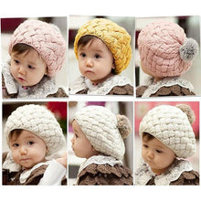 Load image into Gallery viewer, Handmade Crochet Knitting Beret Hat