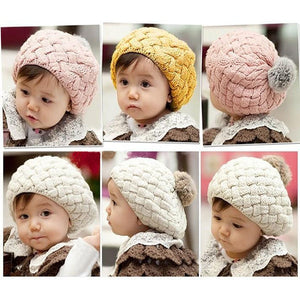 Handmade Crochet Knitting Beret Hat