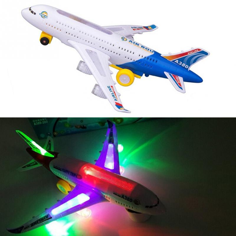 Toy Electric Airplane Child Musical With Lights Toy