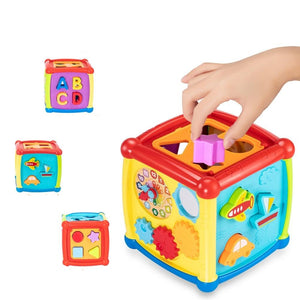 Musical and Shape Matching Activity Cube