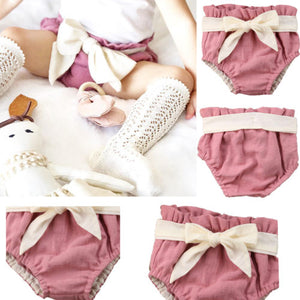 Summer Baby Girl Cotton Toddler Shorts Bloomers