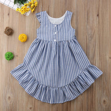Load image into Gallery viewer, Baby Girl Summer Striped Princess Party Dress