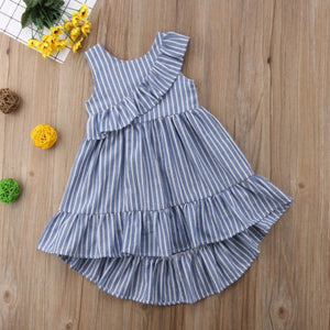 Baby Girl Summer Striped Princess Party Dress
