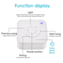 Load image into Gallery viewer, White Noise Machine USB Rechargeable Sleep Sound Machine