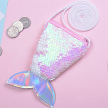 Load image into Gallery viewer, Mermaid Tail Sequins Coin Purse For Girls