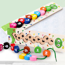 Charger l'image dans la galerie, Wooden Learning Caterpillar Digital Beading Math