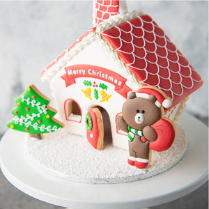 3D Christmas Gingerbread Cookie Cutter Set