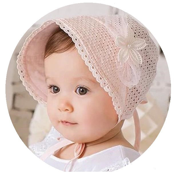 Lace-up Baby Lady Hat