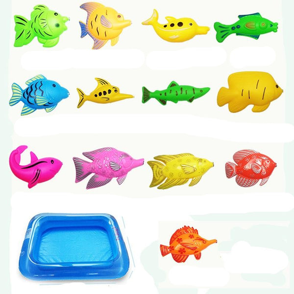 Inflatable Magnetic Fishing Game