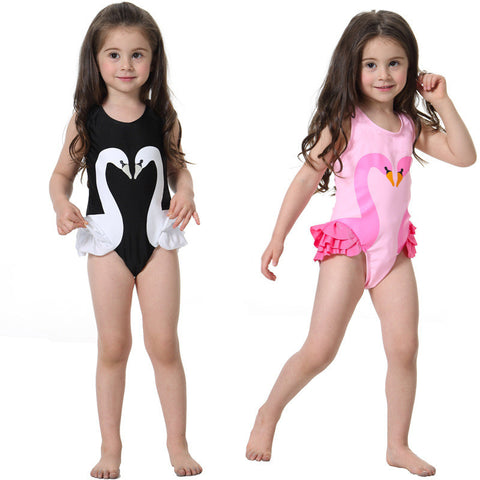 Cutest Dancing Swan Flamingo Bathing Suit
