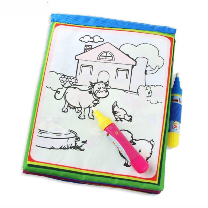 Water Drawing Doodle Story Cloth Book
