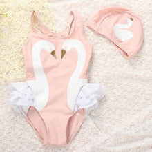 Load image into Gallery viewer, Cutest Dancing Swan Flamingo Bathing Suit