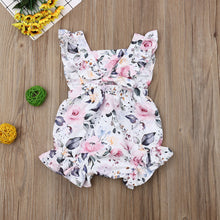 Load image into Gallery viewer, Summer Cute Girl Flower Ruffle Romper