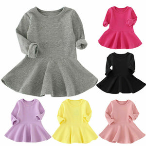 Long Sleeve Dress Princess Party Skirt