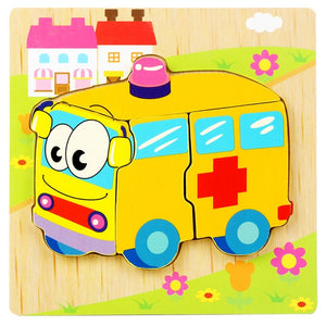 Wooden Jigsaw Educational Puzzles Toys