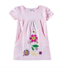 Load image into Gallery viewer, Girls Sweet Short Sleeve Summer Casual Dress