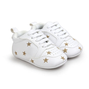 Baby Heart Star Pattern First Walkers Kids Shoes
