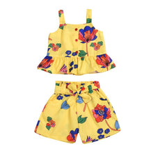 Load image into Gallery viewer, Summer Cute Baby Girl Floral Outfit