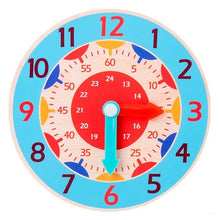 Charger l'image dans la galerie, Hour Minute Second Cognition Colorful Wooden Clocks