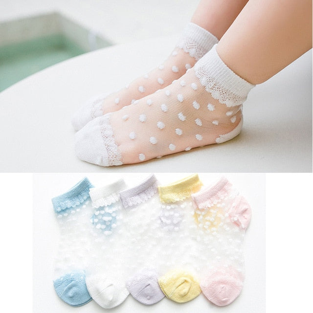 5 Pairs Breathable Girls Ankle Socks
