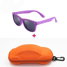 Load image into Gallery viewer, Kids Sunglasses Soft Frame With Case
