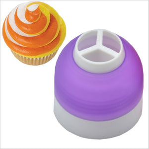 Russian Icing Piping Nozzles Tips Cream Pastry Bag Tricolor Converter