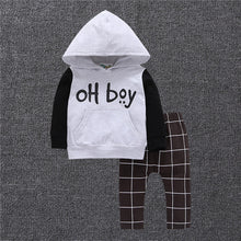 "Load image into Gallery viewer, Baby Boys Clothes Set ""OH BOY"" Casual Long Sleeve & Pants"