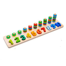 Load image into Gallery viewer, Montessori Educational Math Wooden Board