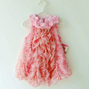 Floral Chiffon Summer Sleeveless Dresses for Girls