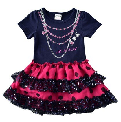Girls Sweet Short Sleeve Summer Casual Dress